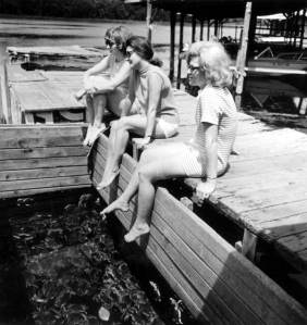 girls on dock